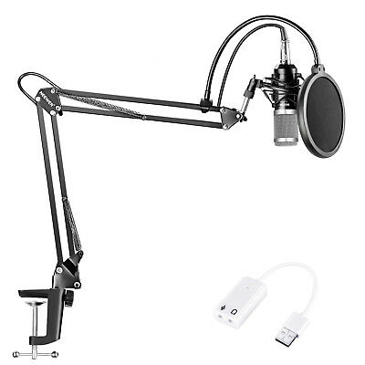 Neewer NW-800 Black/Silver Studio Condenser Microphone Kit with Arm Stand Kit