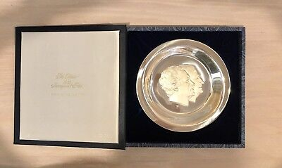 """1973 Richard Nixon Agnew Official Inaugural Sterling Silver 7-3/4"""" Plate"""