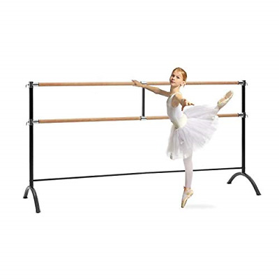 Klarfit Barre Marie • Double Ballet Bar • Free-Standing • 86 x 44 inches • 2 x Ø