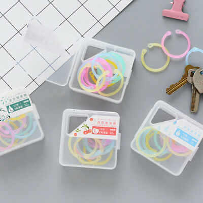 1Box Multi-function Easy Ring Paper Book Loose Leaf Binder Calendar Ring Keyring