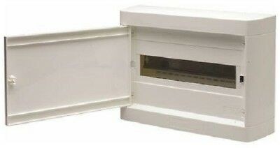HPM SURFACE MOUNT DIN RAIL ENCLOSURE HPMHL12S 12-Modules, White *Aust Brand