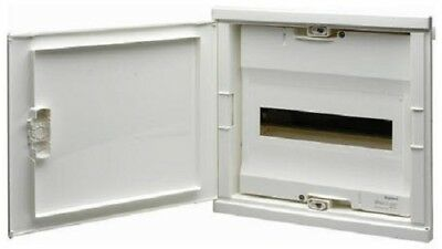 HPM FLUSH MOUNT DIN RAIL ENCLOSURE HPMHL12F 12-Modules, White *Aust Brand