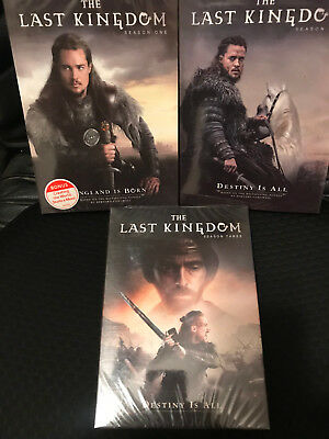 New! The Last Kingdom: Seasons 1-3, 1 2 3. 9 Disc Bundled Dvd Set.