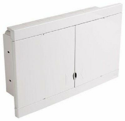 HPM FLUSH MOUNT DIN RAIL ENCLOSURE HPMHL36F 36-Modules, White *Aust Brand