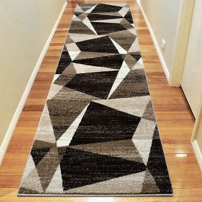 Hallway Rug Hall Runner Modern Contemporary Mat Floor Carpet Beige 2 Sizes 2301