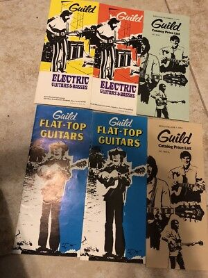 1970s Guild Guitar Catalogs and Price Lists Big Lot! Starfires, more!
