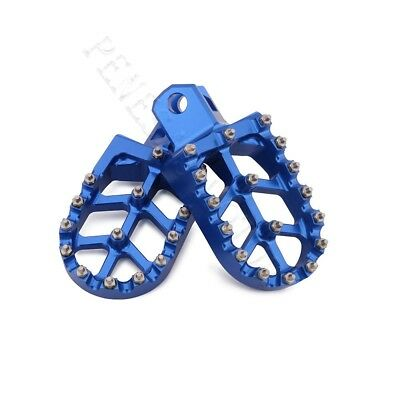 CNC Wide Foot Pegs Pedals Rests Footpegs For Suzuki RMX250R/250S DRZ400 RM250 PE