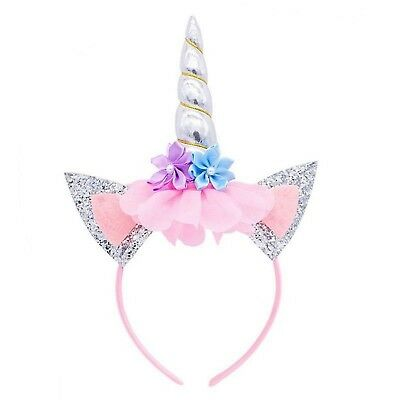 Girls Silver Unicorn Hair Headband Party Favor Cosplay