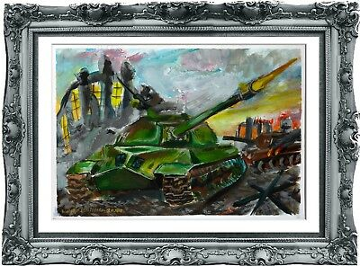 original drawing art world of tanks 22SV gouache A3