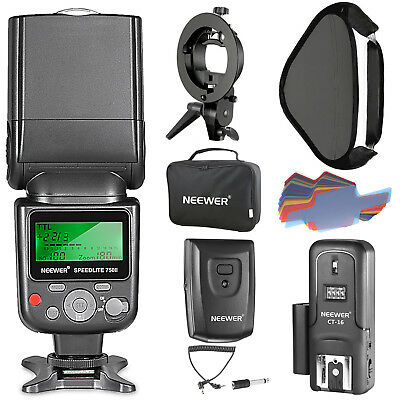 Neewer 750II TTL Flash Speedlite Kit with Softbox for Nikon DSLR Cameras