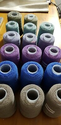 Wool Yarn Lace weight Job Lot  3+kg Crochet Knitting weavingProjects 2/18nm