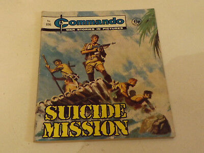 Commando War Comic Number 696 !,1972 Issue,v Good For Age,47 Years Old,very Rare