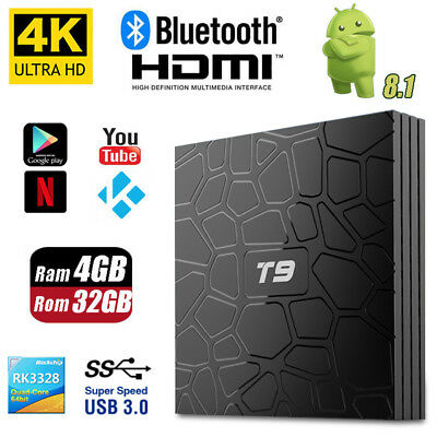 T9 Android 8.1 Smart TV Box Rockchip RK3328 4GB 32GB Quad Core 4K Media Player