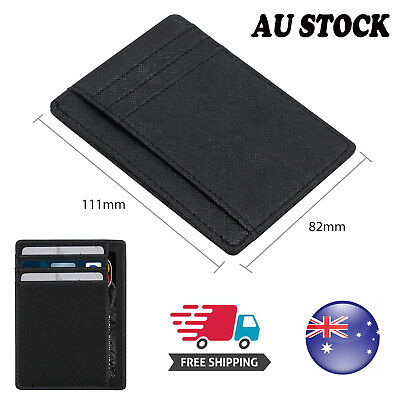 RFID 8 Card Slots Men's Slim Wallet Leather Wallet opal Card Holder ID Card AU