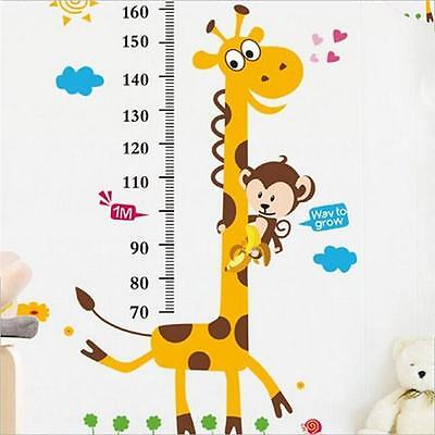 Lovely Giraffe Height Measuring Scale Removable Wall Sticker For Kid Boy Girl YI