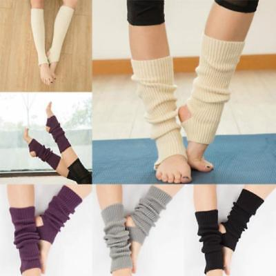 1 Pair Women Lady Boot Cuffs Socks Crochet Dance Pilates Yoga Leg Warmers YI