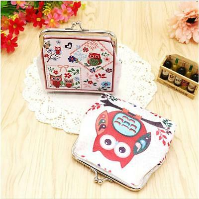 Women Lady Vintage Owl PU Leather Small Wallet Hasp Purse Coin Clutch Bag YI