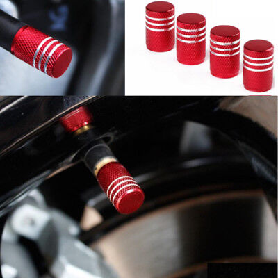 4x Colorful Anodized Aluminum Round Tire Valve Stem Caps Practical Useful New