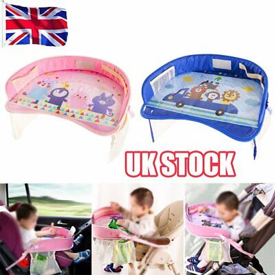 Kids Toddler Safety Car Seat Travel Snack Play Table Tray Drawing Board L1
