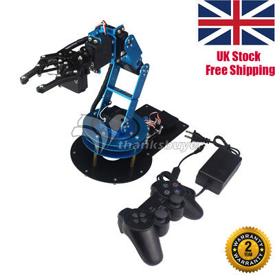 LeArm Unassembled 6DOF Mechnical Robotic Arm 6pc Digital Servo +  PS2 Remote UK