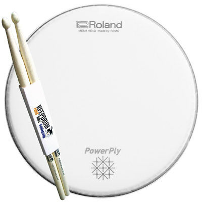 "Roland MH2-10 PowerPly Mesh Head 10"" + Drumsticks"