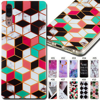 For Huawei Gel TPU Various Silicone Back Skin Shell Soft Cute Painted Case Cover