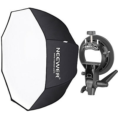 """Neewer 32"""" Octagonal Softbox & S-Type Bracket Holder with Bowens Mount for Flash"""