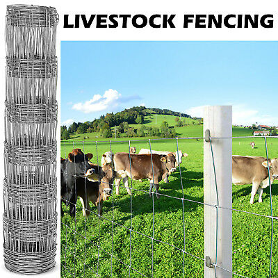 25M 0.8M L7/80/15 Stock Fencing Sheep Pig Cattle Livestock Fence Galvanised Wire
