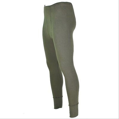 Genuine German army pants long johns OD Olive cold weather bottoms underwear NEW
