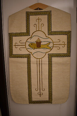 weisses Messgewand, Kasel , Casel, Chasuble (1002)