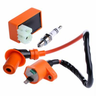 Motorcycle Racing CDI & Ignition Coil & Spark Plug Kit For GY6 50 CC 125CC 150CC