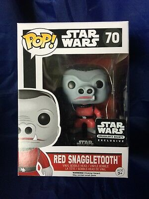 funko pop star wars Red Snaggletooth Smugglers Bounty Exclusive 70