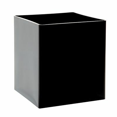 Acrylic  Black Cube Durable Vase 15cm Lightweight Designer Container 4125