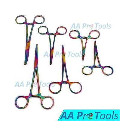 6 Piece Multi Ultimate Hemostat Set, Ideal for Hobby Tools, Electronics, Fishing