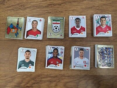 panini 2018 Russia World Cup stickers part set 508 different stickers