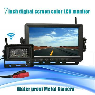 """Wireless Night Vision Rearview Back up Camera System+7""""Monitor fr RV Truck Bus"""