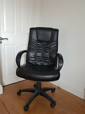 Black Office Chair with High Back Large Seat and Tilt Function