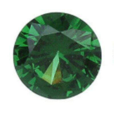 1mm round shaped synthetic green colored zircon Top lustered ** Lot no. MD811