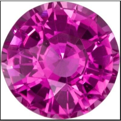 1 mm round synthetic pink colored sapphire Top lustered ** Lot no. MD641