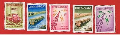 Paraguay #577-581   MVFLH OG  Logs and Towers Free S/H