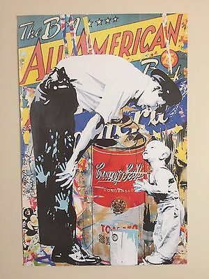 """Mr. Brainwash """" The Big All American """" Authentic Lithograph Print Pop Art Poster"""