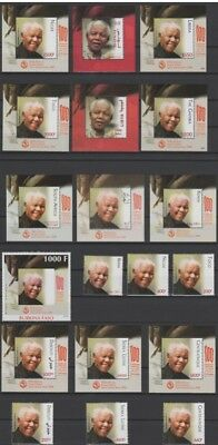 2018 Joint Issue Nelson Mandela Madiba 100 years ALL 10 Countries MNH** RARE !