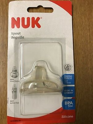 NUK Soft Silicone Spout 6-18 Months x 10 Brand New In pack Training cup