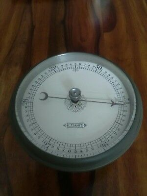 Exceptional Vintage Hezzanith Tested Brass Ships Barometer