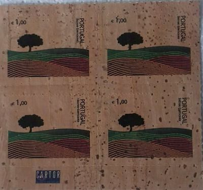 Portugal Cork Kork Liege Block Of 4 Self Adhesive Stamps New 2007