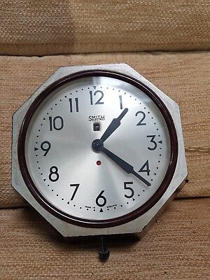 Large Smiths Sectric Vintage Electric Wall Clock.