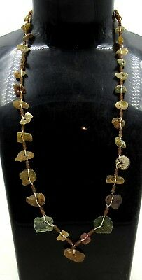 Authentic Ancient Roman Era Glass Beaded Necklace - J36