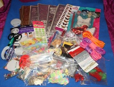 Job Lot Of Craft Items, Stickers, Glitter, Buttons, Beads, Etc Etc.