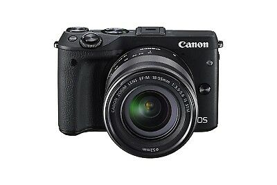 NEW Canon EOS M3 Compact System Camera with EF-M 18-55 mm f/3.5-5.6 STM Lens