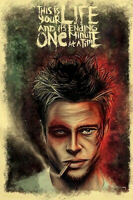 Movie Poster Print -Fight Club - Tyler Durden  - Matte Art - Buy 2 Get 1 Free